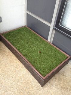Porch Potty Standard Without Sprinklers, Outer Dimensions x x Grass Area 8 Square Feet x Porch Potty, Indoor Dog Potty, Patio, Backyard, Dog Accesories, Dog Spaces, Dog Area, Training Pads, Dog Boarding