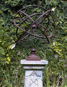 Beau Large Armillary Sphere Garden Art In Many Colors Garden Planters, Garden  Spheres, Garden Fountains