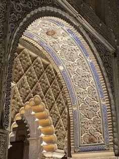 Alcázar of Seville, Spain, originally a Moorish fort