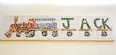 Custom Train Name Mosaic