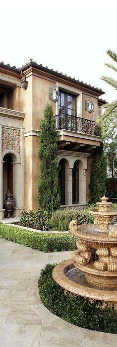 Old World, Mediterranean, Italian, Spanish & Tuscan Homes Design & Decor #tuscanhomedecorating