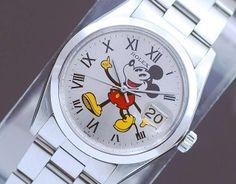 Rolex Precision 6694 Mickey Mouse Vintage Men's Watch! #Rolex #CartoonIdol