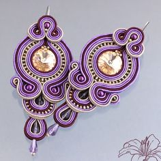 soutache earrings. Orecchini Soutache