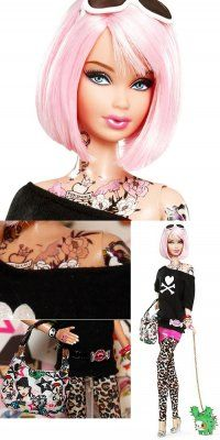 Wish they had this when I was Barbie obsessed. No I had to color on her make up and tats!