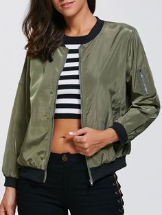 SHARE & Get it FREE   Zipper Design Bomber Jacket with PocketsFor Fashion Lovers only:80,000+ Items • New Arrivals Daily • Affordable Casual to Chic for Every Occasion Join Sammydress: Get YOUR $50 NOW!