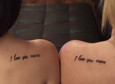 amazing mother daughter tattoo design