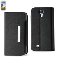 Reiko Magnet Flip Smooth Leather Case Samsung Galaxy S 4 Black
