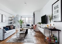 Join Us in Ogling This Gorgeous and Space-Savvy NYC Apartment  via @PureWow