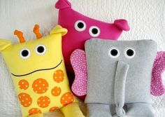 SALE - PDF ePATTERN for Giraffe, Elephant and Hippo Pillows Sewing Pattern