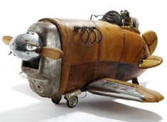 Cute Steampunk toy airplane