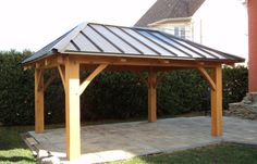 How about building or buying a Gazebo/Pergala? Backyard Pavilion, Backyard Gazebo, Backyard Retreat, Backyard Landscaping, Patio Plan, Pergola Plans, Wooden Gazebo Plans, Pergola Ideas, Outdoor Gazebos