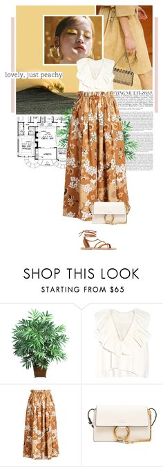 """""""chloé."""" by eve-angermayer ❤ liked on Polyvore featuring Chanel, Nearly Natural, Chloé, Valia Gabriel, Summer, yellow, maxiskirt, eveangermayer and angermayerevelin"""