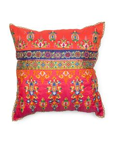 Made In India 18x18 Embellished Pillow