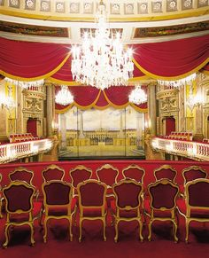 Schonbrunn Palace Theater, view of the stage, photograph