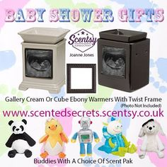 Perfect Baby shower gift - why not give a scentsy warmer or buddy?  www.scentedsecrets.scentsy.couk
