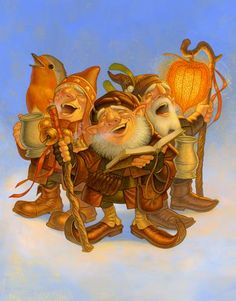 Gnome singers. (Artist: Paul Kidby.)