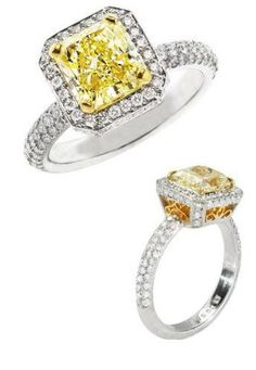 The yellow diamond engagement rings are now in fashion and they attract the people towards them.  The yellow diamonds are the good choice for the engagement ring and can surely please the bride. But it is important that you get a little knowledge and awareness about these diamonds before buying them.