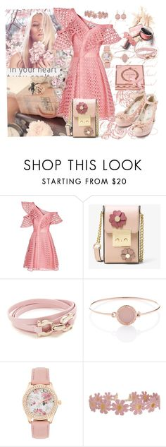 """""""Spring in my Soul"""" by sherrysrosecottage-1 ❤ liked on Polyvore featuring self-portrait, MICHAEL Michael Kors, Salvatore Ferragamo, Michael Kors and Humble Chic"""