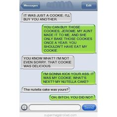 Omg, this looks like a conversation I would have... cookies and nutella are two major weaknesses of mine... lol