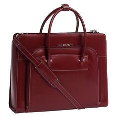 Shop a great selection of McKlein Lake Forest Red Italian Leather Ladies' Notebook Briefcase. Find new offer and Similar products for McKlein Lake Forest Red Italian Leather Ladies' Notebook Briefcase. Laptop Tote Bag, Laptop Briefcase, Leather Laptop Bag, Leather Briefcase, Leather Backpack, Leather Bag, Red Leather, Leather Handbags, Briefcase Women