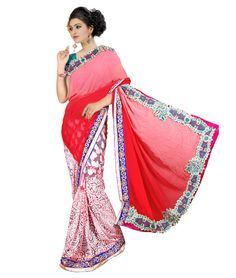 Saree Colour : Red Blouse Colour : Aquaa Green Collection : KSS102 Saree Fabric : Pallu Weightless + Brasso Blouse Fabric : Dhupian Saree Length : 5 Meter Blouse Length : 0.90 Cm Ptticoat : Not Available Stitching: Un_Stitched Work : Embroidered Style : New Arrival Saree