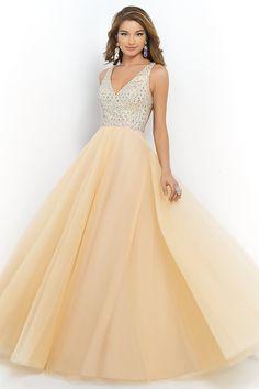 2014 Style A-line Straps Rhinestone Prom Dresses/Evening Dresses #GF823