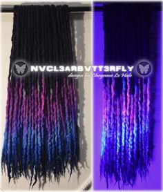 Violet Hair, Blue Hair, Wool Dreads, Dreadlocks, Night Flowers, Synthetic Hair Extensions, Faux Locs, Hair Dos, Merino Wool