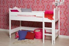 Child and environmentally friendly bed as varnishes and stains used on this furniture are water based.