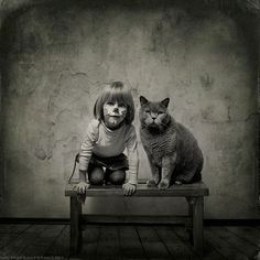 Black and White Friendship Story of a 4-Year-old Girl and Her Cat | DeMilked http://www.demilked.com/girl-cat-friendship-photos-andy-prokh/