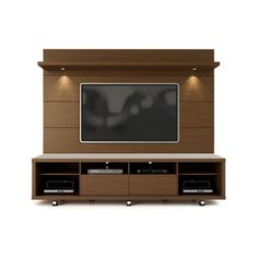 Manhattan Comfort Vanderbilt TV Stand and Cabrini Floating Wall TV Panel with LED Lights Tv Cabinet Design, Tv Wall Design, Tv Unit Design, Tv Stand And Panel, Tv Panel, Tv Wall Decor, Wall Tv, Tv Unit Furniture, Modern Tv Wall Units