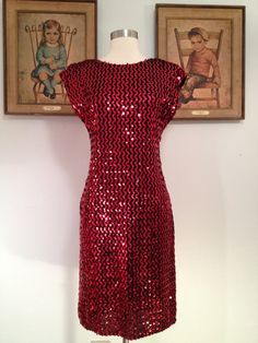 1970s Frederick's of Hollywood Sequined Party by AwwwShucks, $110.00