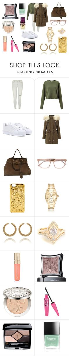 """""""Sin título #5647"""" by gise19 ❤ liked on Polyvore featuring River Island, Miss Selfridge, adidas, Gucci, Linda Farrow, Marc by Marc Jacobs, Smith & Cult, Illamasqua, Christian Dior and Butter London"""
