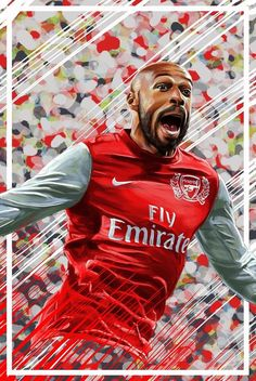 Henry is a all time fans favorite & club legend. Arsenal Fc Players, Best Football Players, Football Art, Arsenal Football, Football Match, Thierry Henry, Legends Football, Sport Inspiration, Football Pictures