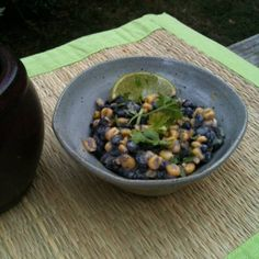 Corn and Black Bean Salad with Avocado Cream Dressing | Made Just Right by Earth Balance vegan plantbased