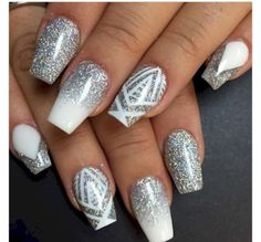 Silver and white ombré