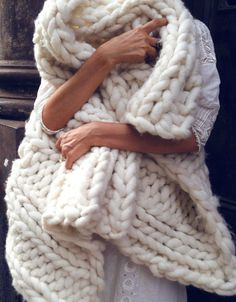 Chunky Knit Merino Throw