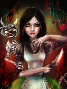 alice by manulys on DeviantArt Alice Sweet Alice, Wolf, Alice Liddell, Alice Madness Returns, Laughing Jack, Were All Mad Here, Mad Hatter Tea, Electronic Art, Deviantart