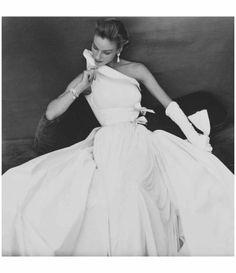 Susan Abraham Wearing Madame Grès 1954 Henry Clarke