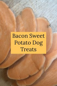 Make these tasty dog treats today! Bacon Dog Treats, Healthy Dog Treats, Yummy Treats, Dehydrator Dog Treats, Dehydrator Recipes, Sweet Potato Dog Chews, Sweet Potatoes For Dogs, Dehydrated Vegetables, Eating Vegetables