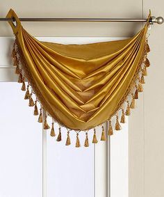 Love this Yellow Elaine Grommeted Fringed Waterfall Valance on #zulily! #zulilyfinds