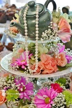 How to Make a Beautiful Tea Party Centerpiece - Surroundings by Debi...