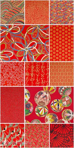 Japanese Chiyo-gami papers pattern