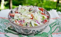 Bren shares are recipe for a fresh cabbage salad as part of her healthy salad series for summer eating. Share it. Diet Recipes, Cooking Recipes, Healthy Recipes, Healthy Meals, Cabbage Salad Recipes, Mind Diet, Dinner Salads, Salad Ingredients, Food And Drink