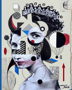 "Saatchi Art Artist LOUI JOVER; Collage, ""majesty"" #art"