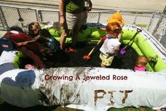Mud themed messy play date- Lots of mud play ideas!