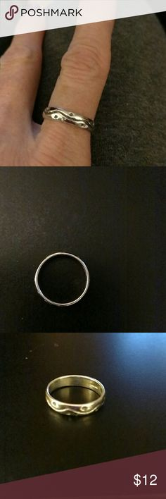 Sterling Silver Ring Sterling Silver Band. Size 6.25 Jewelry Rings