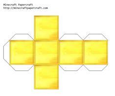 Papercraft Gold Block
