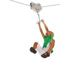 Commercial zipline trolley with handles for parks/ businesses Ziplines. Zip Line Kits, Wooden Poles, Bench Set, Bench Designs, Photoshop, Stainless Steel, 100m, Adventure Time, People