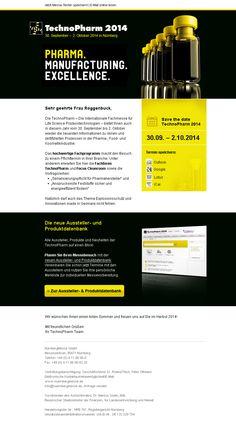 Konzeption und Design von #Newsletter-#Templates. Beispiel NürnbergMesse GmbH. #Technopharm #Newsletterdesign #Email #Emailmarketing