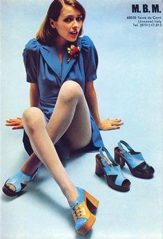MBM platform shoes, 1973